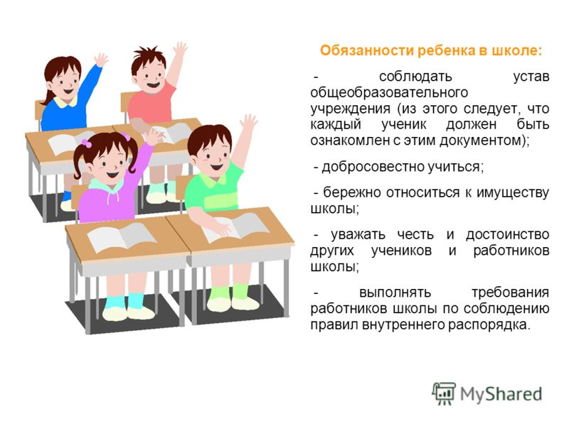 Обязанности и правила ученика в школе