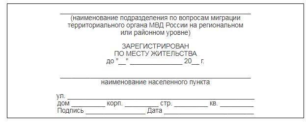 Место регистрации и место фактического проживания