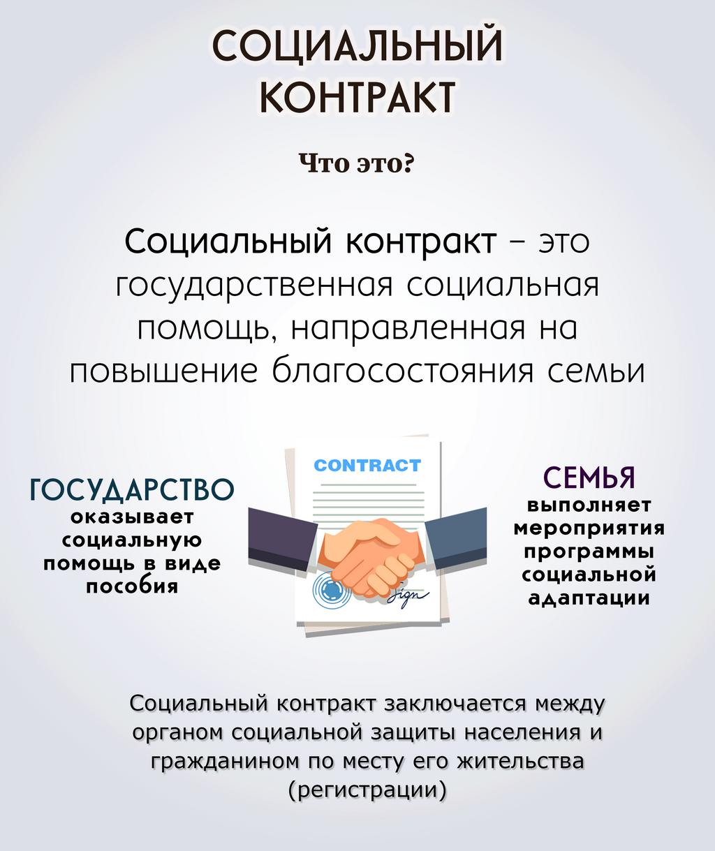 Гос соц помощь на основании соц контракта